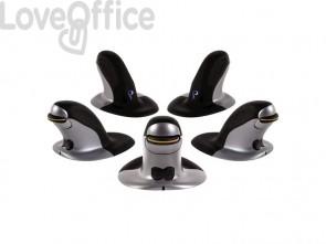 Mouse verticale FELLOWES Penguin® grande con filo grigio/nero 9894401