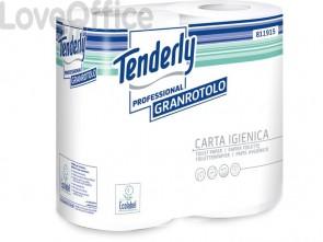 Carta igienica Tenderly Granrotolo 2 veli - 811915 (4 rotoli da 432 strappi)