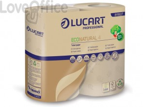 Carta igienica Lucart EcoNatural 4 2 veli - 811927 (4 rotoli da 400 strappi)