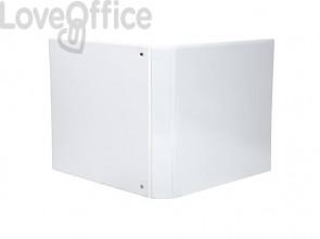 Raccoglitore personalizzabile Exacompta A4 maxi Kreacover® bianco 4 anelli a D 40 mm - 51943E