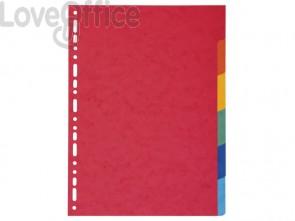 Intercalari in carta Exacompta 6 tasti colori vivaci cartoncino riciclato A4 220 g/mq - 2006E (conf.3)