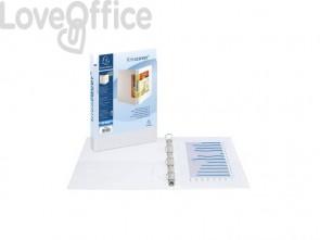 Raccoglitore personalizzabile Exacompta A4 maxi Kreacover® bianco 4 anelli a D 60 mm - 51945E