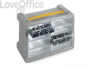 Cassettiera sovrapponibile ad incastro TERRY Poker 8 grigio/trasparente 1002307
