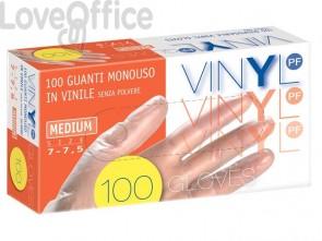 Guanti in vinile senza polvere Icoguanti L trasparenti - EVSP/LARGE (scatola da 100 guanti)