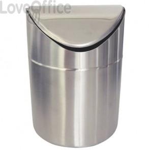 Cestini gettacarte no brand argento  337940