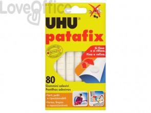 Gommini adesivi Uhu Patafix bianco - D1620 (conf. 80 pezzi)