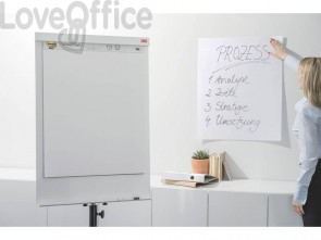 Blocco di fogli da parete Post-it® Super Sticky 63,5x 77,5 cm 30 ff bianco 559RP