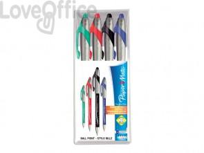 Penne a sfera a scatto Paper Mate Flexgrip Elite L 1,4 mm assortiti (set da 4)