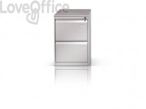 Classificatore per cartelle sospese Tecnical 2 con 2 cassetti grigio - 49,5x65,2x73 cm