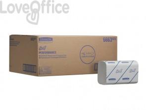 Asciugamani intercalati SCOTT® in carta bianco 15 fascette da 212 fogli - 6663