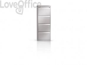 Classificatore per cartelle sospese Tecnical 2 con 4 cassetti bianco - 49,5x65,2x136 cm - ECO 4