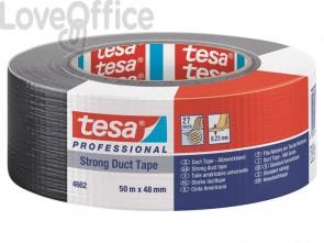 Nastro isolante tesa duct 4662 in tessuto plastificato trasparente 27 mesh 48 mm x 50 m nero - 04662-00194-01