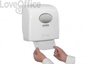 Dispenser di asciugamani a rotolo AQUARIUS* in plastica bianco 7955