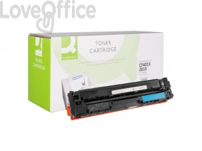 Toner compatibile HP CF401X alta resa ciano Q-Connect