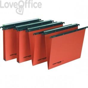 Cartelle sospese Linea Cartesio Plus Bertesi - per cassetto - 33 cm - U3 - Arancio (conf.25)