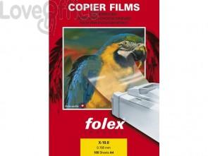 Film per stampanti monocromatiche Folex A3 - 100 my - Trasparente - Folex X-10.0 (conf.50)
