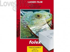 Film per stampanti laser Folex A3 - 90 my - Trasparente finitura traslucida - Folaproof (conf.100)