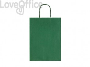 Sacchetti da regalo Rex-Sadoch Allegra tinta unita Dark 26x12x36 cm verde conf. da 25 - SDF26-560