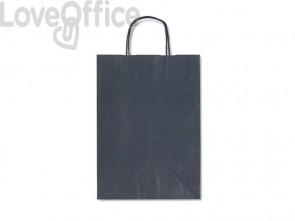 Sacchetti da regalo Rex-Sadoch blu tinta unita Dark 26x12x36 cm blu conf. da 25 - SDF26-561