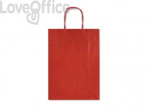 Sacchetti da regalo Rex-Sadoch Allegra tinta unita Dark 26x12x36 cm rosso - SDF26-551 (conf. da 25)