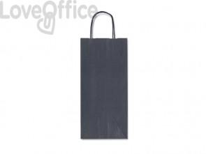Sacchetti da regalo Rex-Sadoch Allegra tinta unita Dark 14x8,5x39 cm blu conf. da 25 - SDF12-561
