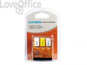 Nastri per etichettatrici Dymo LT 12 mm x 4 m assortiti starter - S0721790 (kit da 3 nastri)