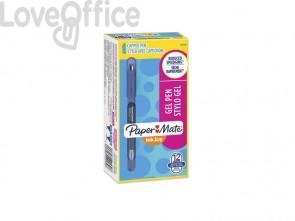 Penne Paper Mate InkJoy Gel 600 Stick M 0,7 mm Blu  (conf. 12)