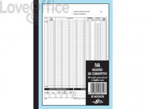 Corrispettivi Semper registro dettaglianti - blocco di 24/24 copie 29,7x21,5 cm - SE168524C00