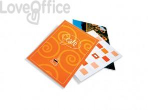 Pouches piccoli formati GBC f.to carta di credito 7,5x10,5  cm 2x125 µm lucido conf da 100 pouches - 3740303
