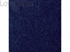 Copertine per rilegatura in similpelle GBC Leathergrain cartoncino goffrato A4 Blu navy (conf.100 copertine)