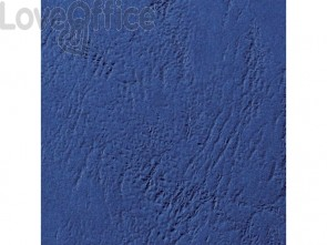 Copertine per rilegatura in similpelle GBC Leathergrain cartoncino goffrato A4 Blu scuro (conf. 100 copertine)