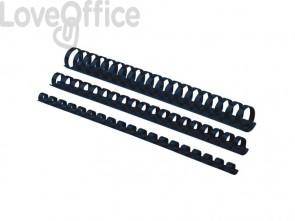 Dorsi plastici FELLOWES blu ad anello tondo 28 mm conf.50 - 5348702