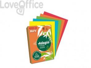 Carta colorata assortita A4 INTERNATIONAL PAPER Rey Adagio colori forti 80 g/m² (risma 500 fogli)