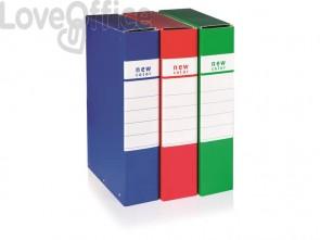 Cartella portaprogetti con 3 bottoni BREFIOCART NEW COLOR 25x35 cm dorso 12 cm rosso - 020E7009.RO