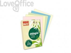 Carta colorata A4 assortita INTERNATIONAL PAPER Rey Adagio 80 g/m² colori pastello (risma 500 fogli)
