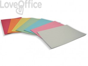 Cartelline semplici EURO-CART Cartoncino Manilla 25x35 cm gr. 190 assortiti conf. da 100 pezzi - CM01AS