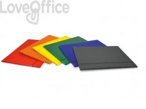 Cartelline con elastico tondo EURO-CART Presspan monolucido blu (conf.10)