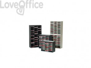 Smistamento corrispondenza Paperflow sistema a 24 scomparti grigio K432402