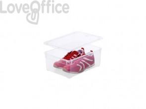 Contenitore Rotho portaoggetti Clear Box impilabile 36x26x14 cm. trasparente F707804