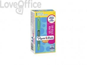 Penne Paper Mate InkJoy Gel 600 Stick M 0,7 mm Verde (conf. 12)