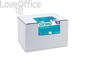 Rotoli da 220 etichette Dymo LabelWriter Spediz./Badge 54x101 mm bianco value pack da 12 - S0722420