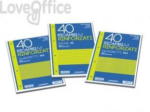 Ricambi rinforzati Blasetti in carta bianca usomano con 4 fori rinforzati in plastica 80 g/m² A4 4F - 2349 (conf.40)
