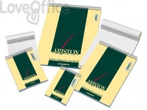 Blocco spiralato Blasetti ARISTON con copertina goffrata 3 colori 60 g/m² 5M A7 8X12cm conf.10/240 - 1085