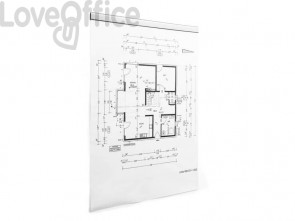 Clip adesive DURABLE DURAFIX® RAIL argento metallizzato 297x17mm conf. 5 - 470723