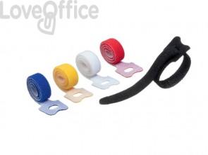 Fascette fermacavi a strappo con asola DURABLE CAVOLINE GRIP TIE colori assortiti - 503600 (conf.5)