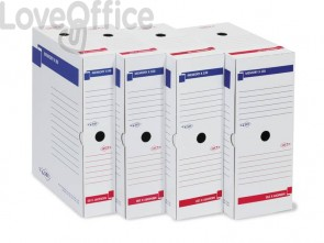 Scatola archivio Sei Rota Memory X 100 25x35 cm dorso 10 cm bianco -673210