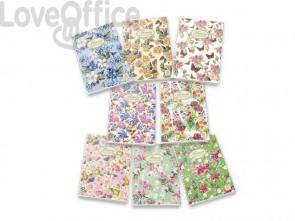 Quaderno a quadretti 4M PIGNA Maxi Nature Flowers A4 - 42 fogli - Assortiti