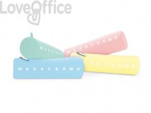 Astuccio Monocromo PIGNA in silicone - Assortito in colori pastello