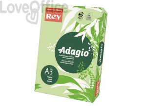 Carta colorata A3 verde INTERNATIONAL PAPER Rey Adagio - 80 g/m² (risma 500 fogli)