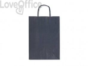 Sacchetti da regalo Rex-Sadoch Allegra tinta unita Dark 36x12x41 cm blu - SDF36-561 (conf. da 25)
